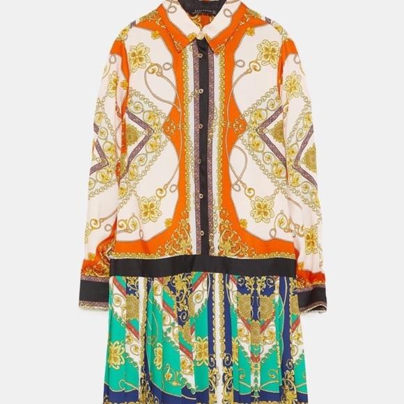 Zara Dresses & Skirts - NWT Zara Patchwork Chain Print Dress Small Rare